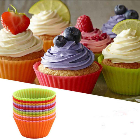 12pc Silicone Cup Cake Moulds