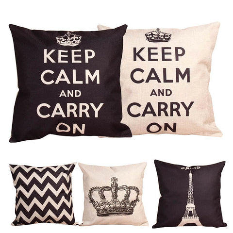 Retro Style Cushion Covers