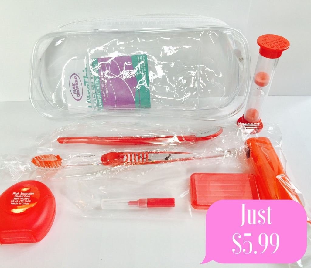 1 Clear red braces care kit