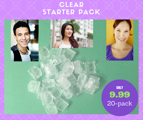 Clear Bracees 20 Pack