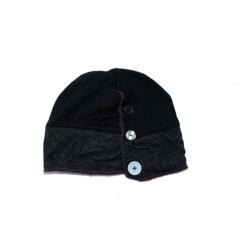 One of a kind Xob Button Cuff beanie