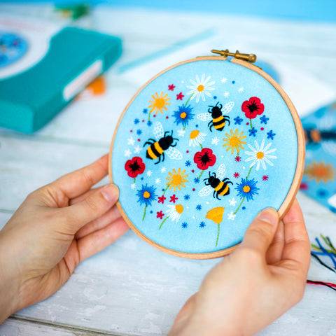Embroidery Kits, Modern Needlework Kits, Craft Kits For Adults, DIY Hoop Art Kits, Needlecraft Kits