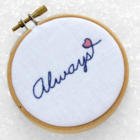 Free love heart embroidery pattern