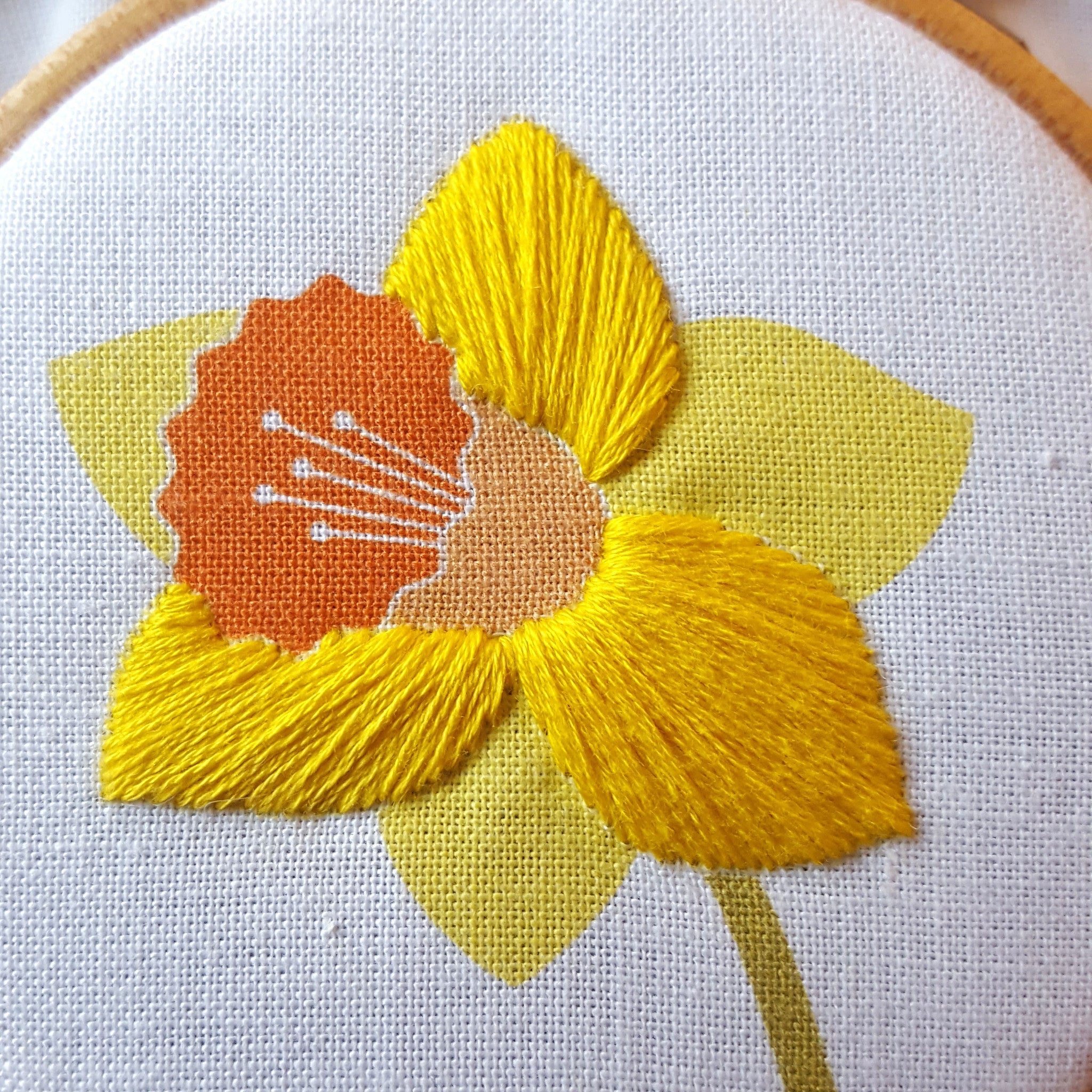 Free Daffodil Embroidery Pattern Easter Hoop Art Freebie