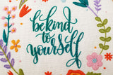 Be Kind To Yourself Embroidery Kit. Self Love Crafts. Possitive Affirmations Hoop Art