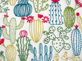 Cactus Embroidery Pattern, Cacti Stamped Embroidery Succulent Hoop Art Pattern