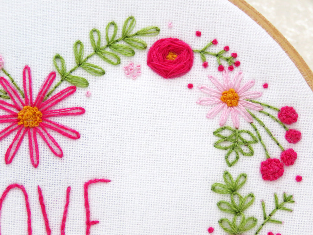Love Heart Embroidery Kit Valentines Day Gifts Ohsewbootiful