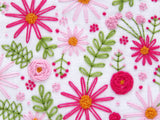 Pink Embroidery Flowers, Learn To Hand Embroider, Learn To Sew, Make Your Own Hoop Art, Hand Embroidered Flowers