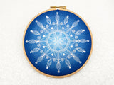 Snowflake Mandala Embroidery Kit, Snowflake Hoop Art, Christmas Crafts, Handmade Christmas Gift