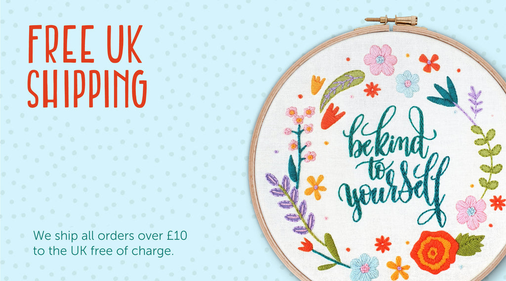 Free Shipping Over £50 on Embroidery Kits, Hoop Art and Needlework Patterns by Oh Sew Bootiful