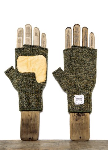FINGERLESS GLOVE WITH NATURAL DEERSKIN