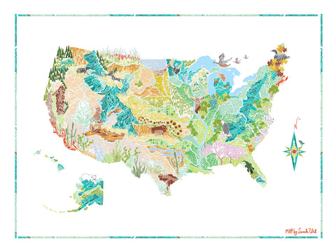 PRINT: FLORA & FAUNA OF THE USA