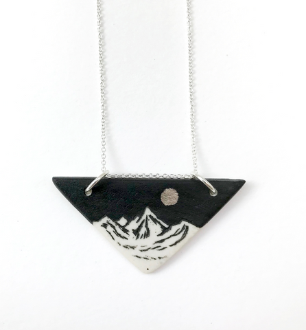 BLACK SKY MOUNTAIN TRIANGLE PENDANT