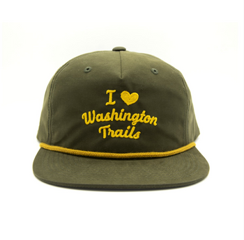 I HEART WASHINGTON TRAILS THROWBACK HAT