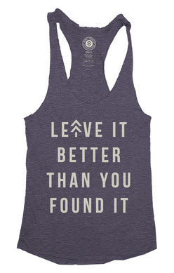 CHARCOAL LEAVE IT BETTER RACERBACK TANK