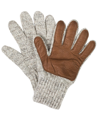 RAGG WOOL LEATHER GLOVES