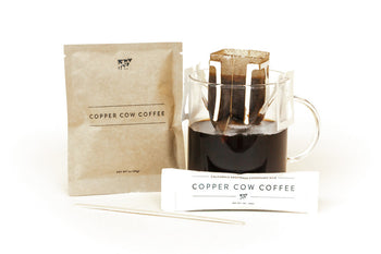 COPPER COW SINGLE-USE PORTABLE POUR OVER COFFEE