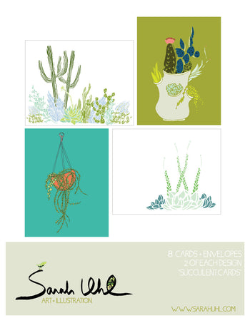NOTECARD SET: SUCCULENTS