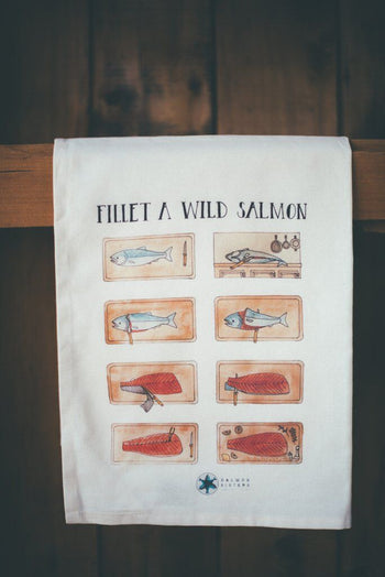 FILLET A WILD SALMON TEA TOWEL