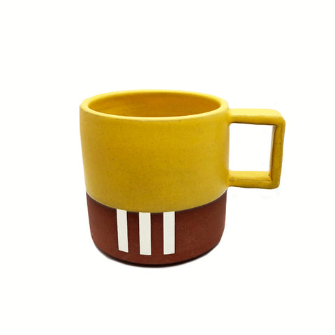 YELLOW STRIPE MUG