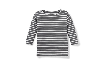 BASIS STRIPE BOATNECK SHIRT