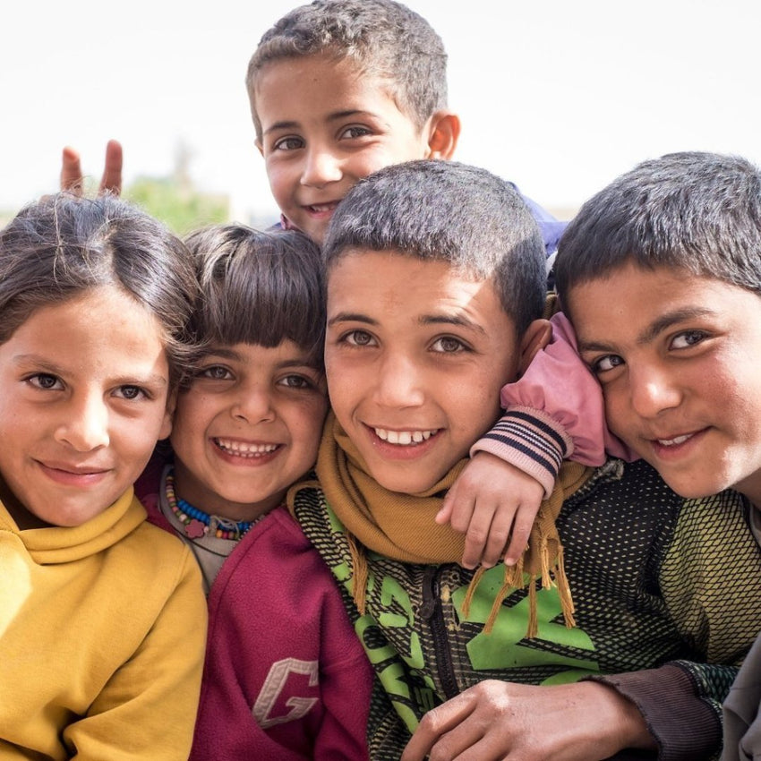 Smiling Kids in Iraq - Refugees