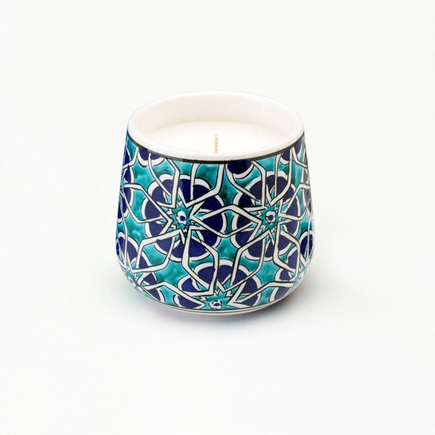 medium Mosaic Road Ceramic hand poured candle