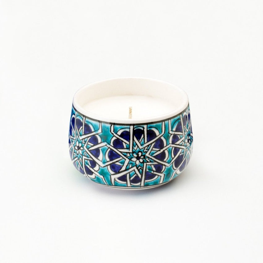 small Mosaic Road Ceramic hand poured candle