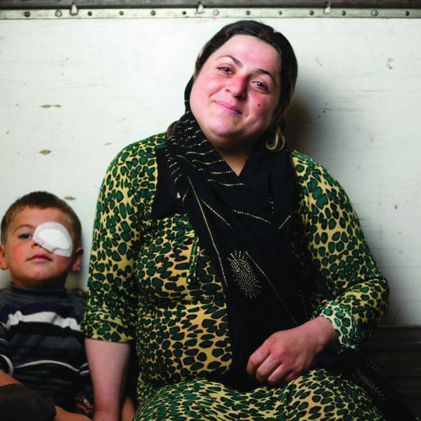 Marwa, Iraqi Woman Yazidi with son