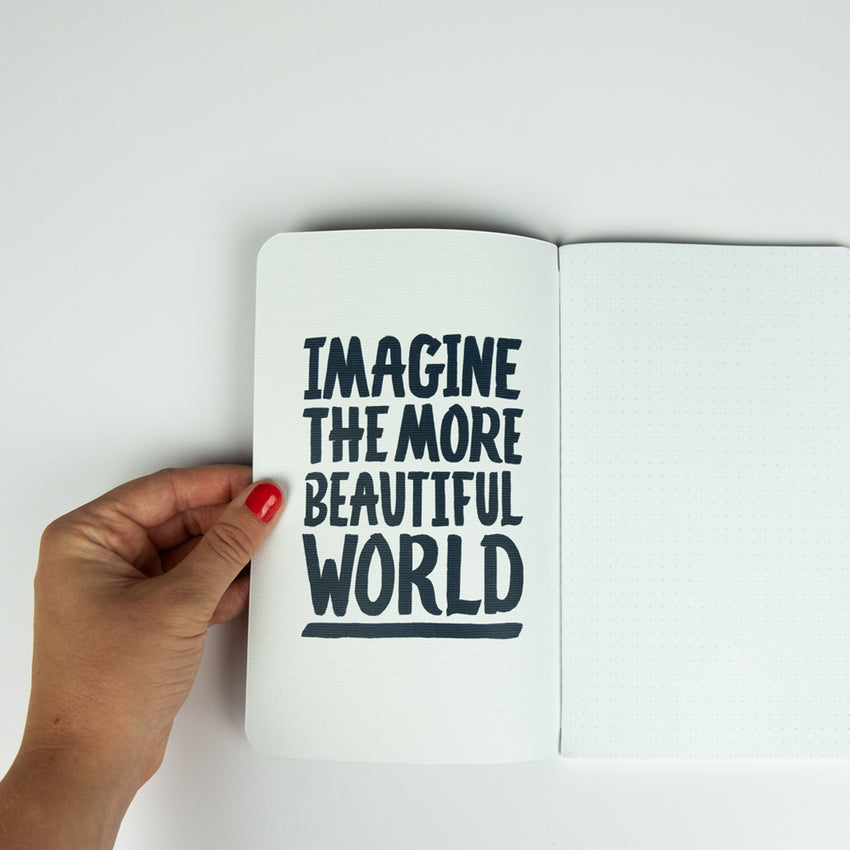 "Interior journal quote ""Imagine the More Beautiful World"" back to school"