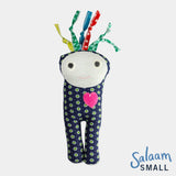 adorable children kids gift doll collectible hand knit by Israeli Jew and Palestinian Arab Women salaam small