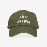 """Love Anyway"" Hat - Olive"