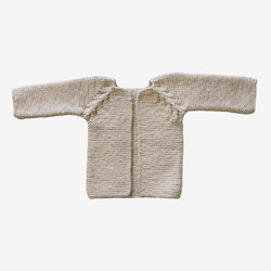 Hand-Stitched Cream Baby Sweater