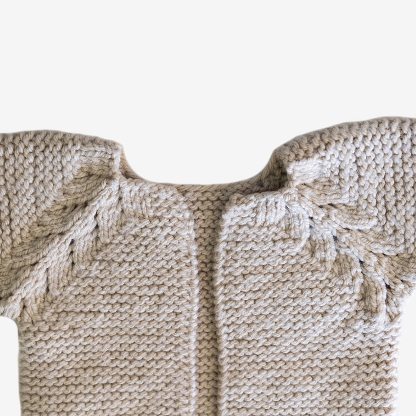 Sisterhood Knits, Cream Baby Sweater