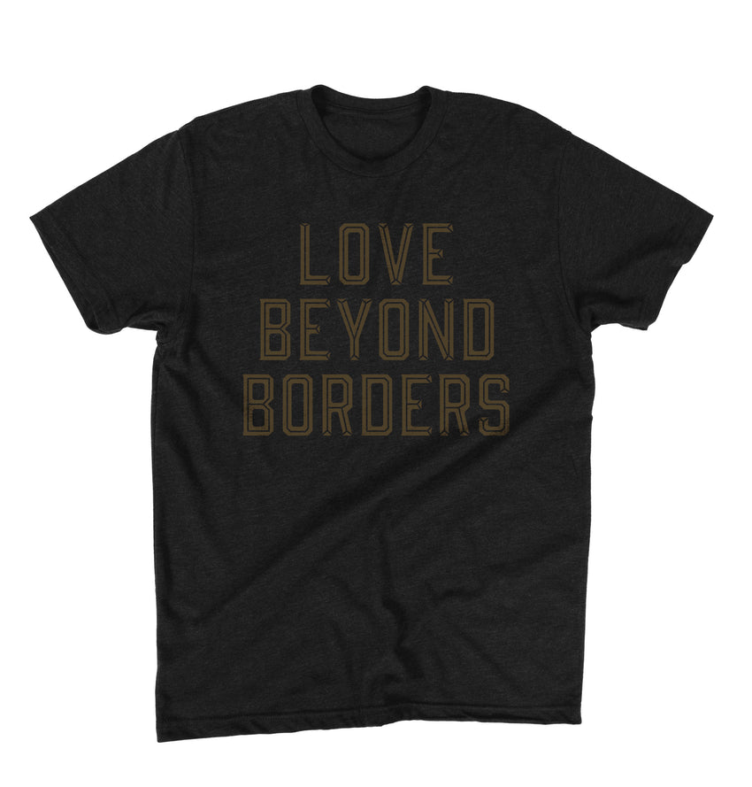 """Love Beyond Borders"" Unisex T-Shirt - Black"
