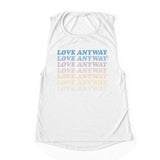 """Love Anyway"" Vintage Waterfall Women's Flowy Muscle Tank Top"