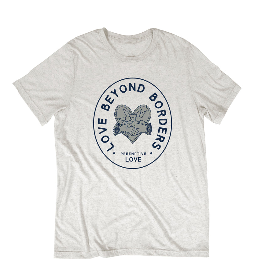 """Love Beyond Borders"" Unisex T-Shirt - Oatmeal"