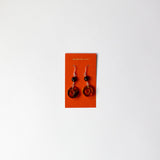 Amber Drop Circle Earrings