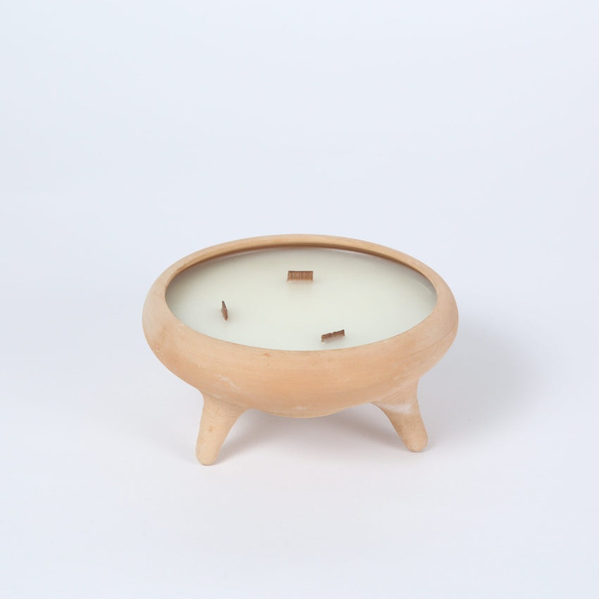 Sisterhood Candles, Terra Cotta Tripod Candle