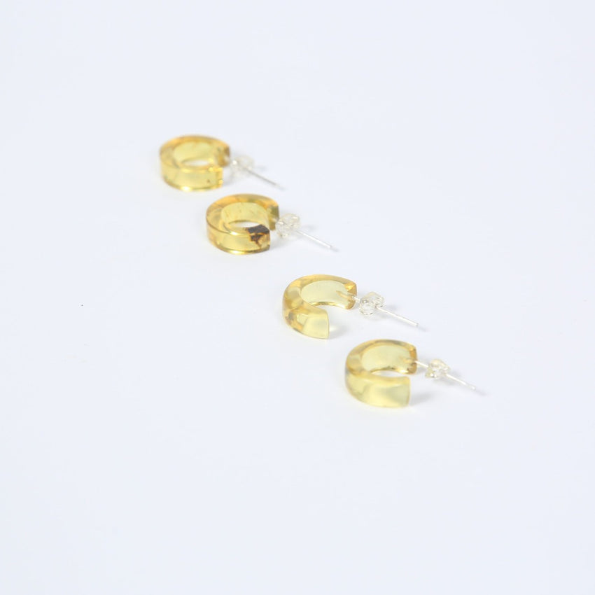 Amber Mini Hoop Earrings