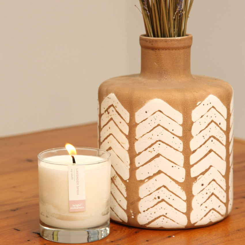 Bright Endeavors x Preemptive Love, Lavender Sprig Candle