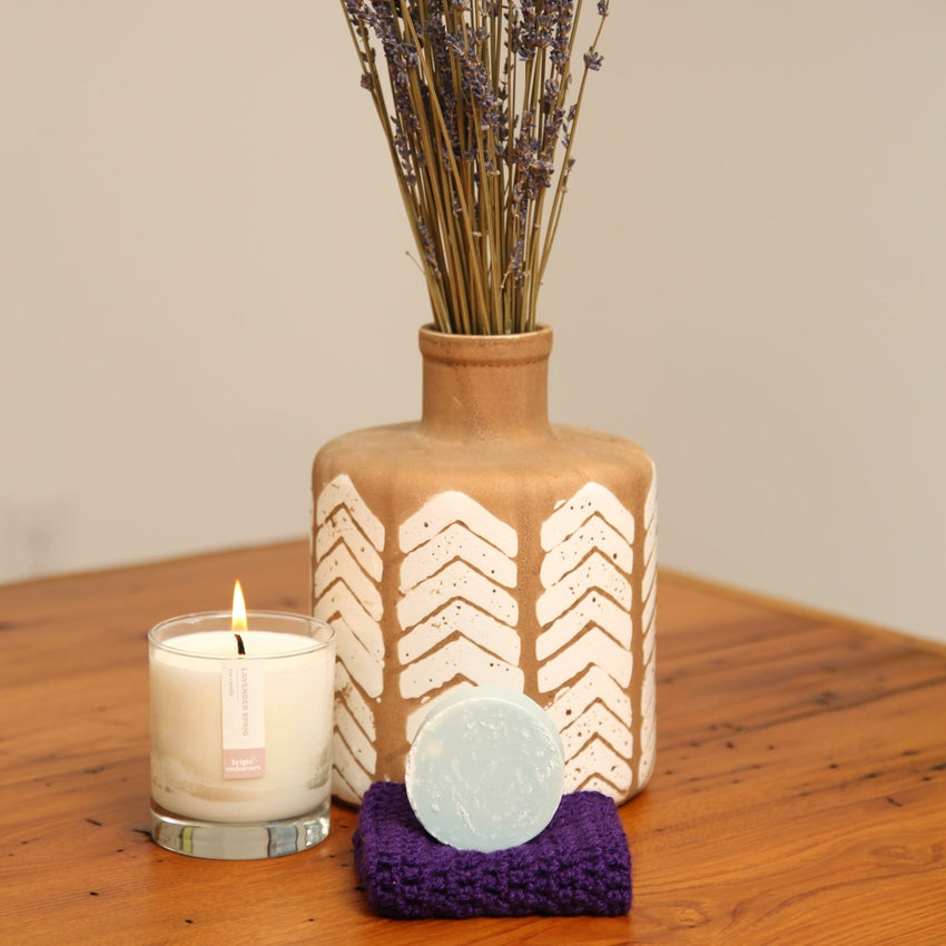 Lavender Candle and Soap Set