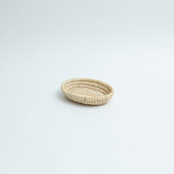 Hand-Woven Reed Small Oval Basket