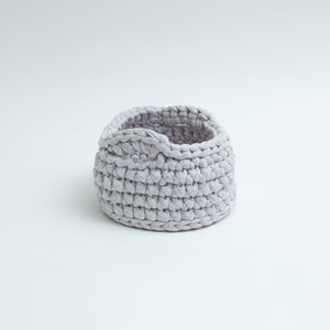 Handmade Twist Basket, Grey