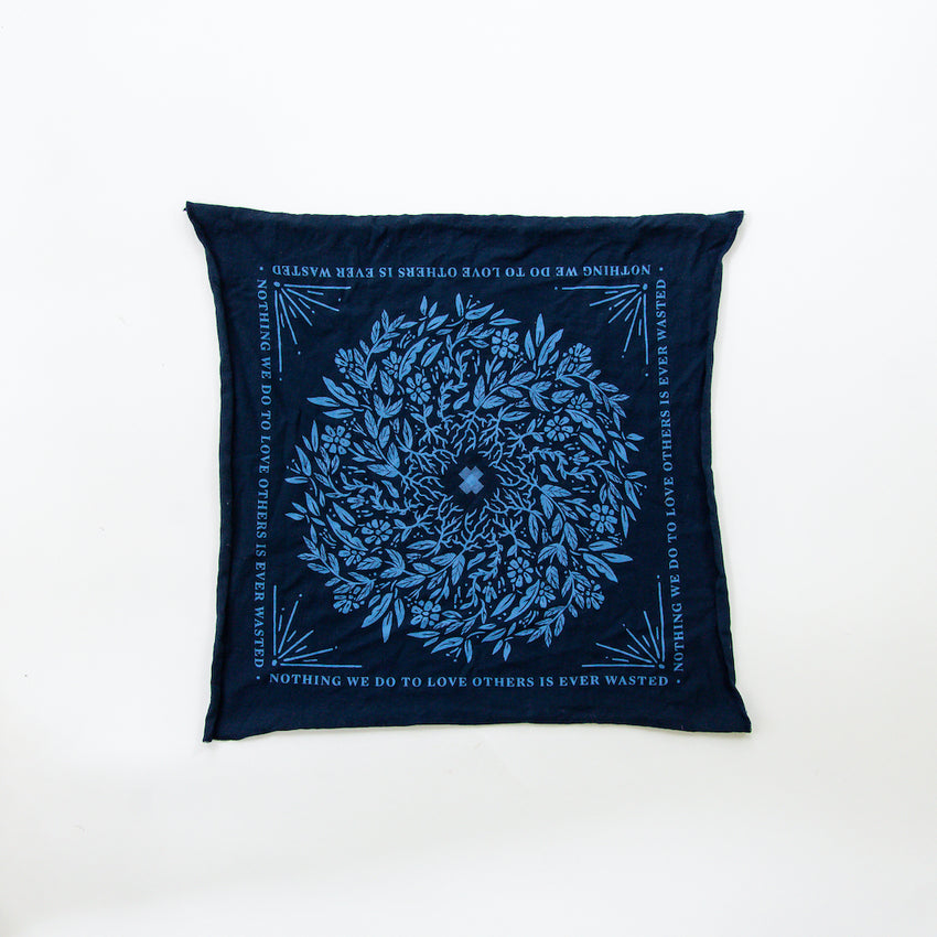 """Rooted Heart"" Navy Bandana"