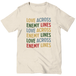 """Love Across Enemy Lines"" Vintage Waterfall Unisex T-Shirt"