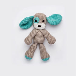 Hand-Stitched Blue Puppy Doll