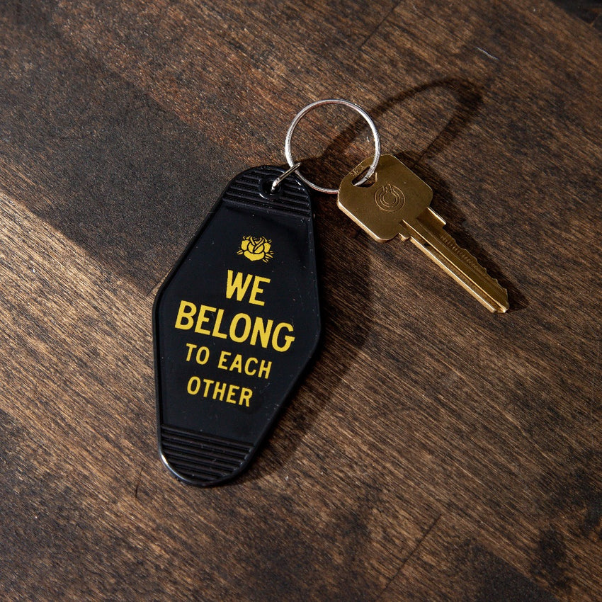"""We Belong To Each Other"" Keychain, Black"