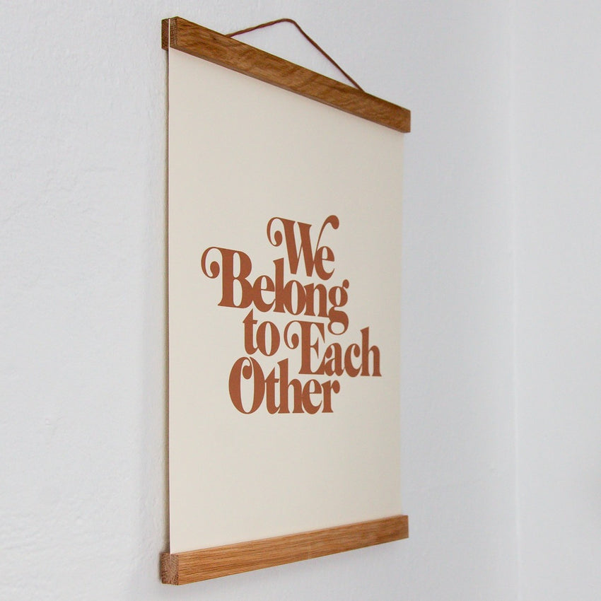 """We Belong to Each Other"" Off White & Terracotta Art Print"