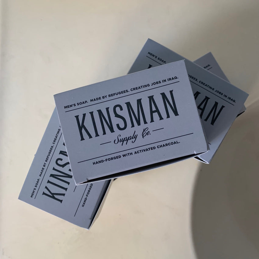 Kinsman Soap, Five Bar Set - Charcoal